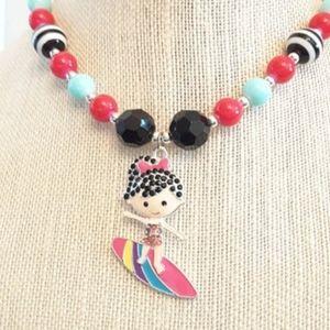 NWOT Handmade Surfer Girl Chunky Necklace